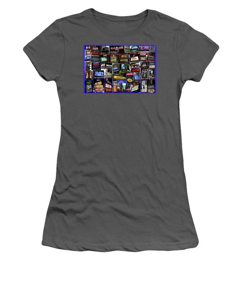 Women's T-Shirt (Junior Cut) featuring the photograph 2016 Broadway Spring Collage by Steven Spak