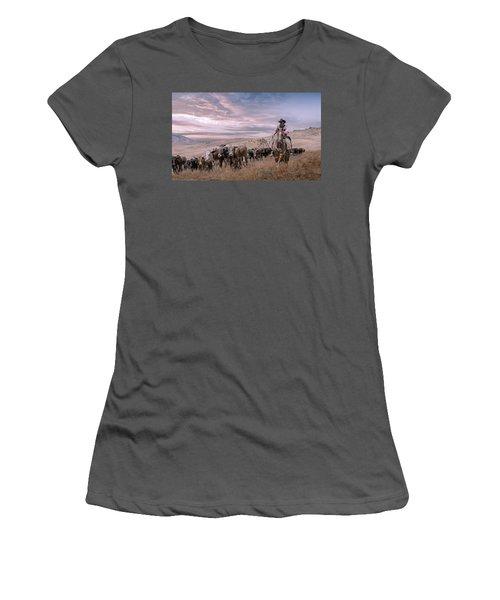 2016 Reno Cattle Drive Women's T-Shirt (Junior Cut) by Rick Mosher