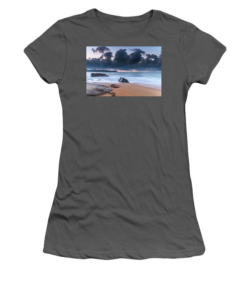 Sunrise Seascape With Clouds Women's T-Shirt (Athletic Fit)
