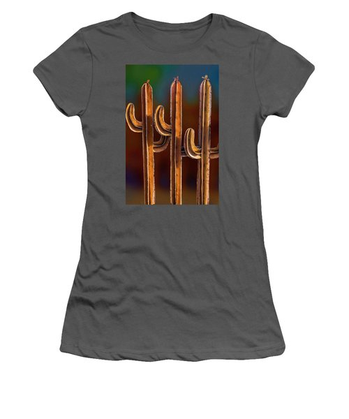 Women's T-Shirt (Athletic Fit) featuring the photograph 3 Amigos by Paul Wear