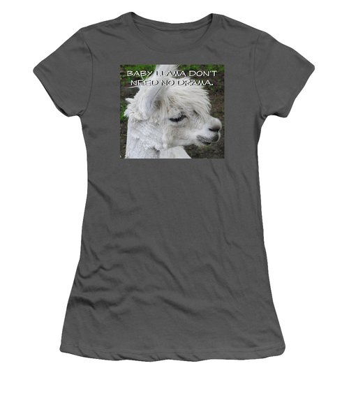 Baby Llama Women's T-Shirt (Athletic Fit)