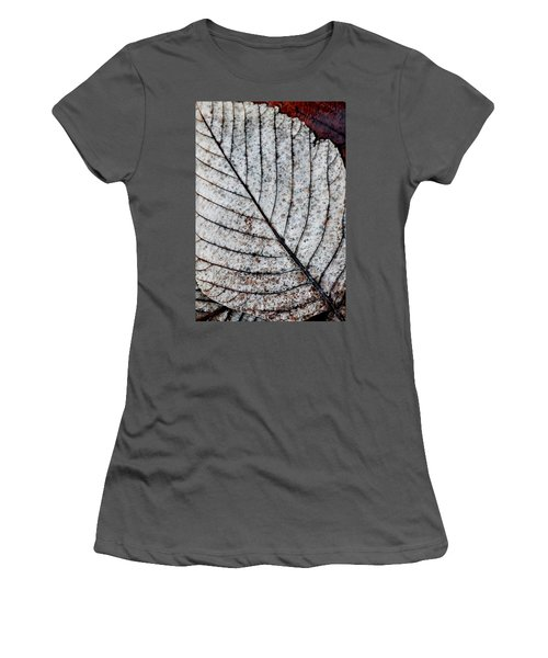 Beautiful Winter Leaf Women's T-Shirt (Athletic Fit)