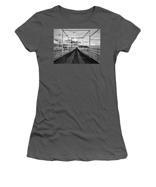 Empty Corrals Women's T-Shirt (Junior Cut) by L O C