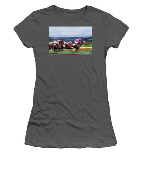Horse Race Women's T-Shirt (Athletic Fit)