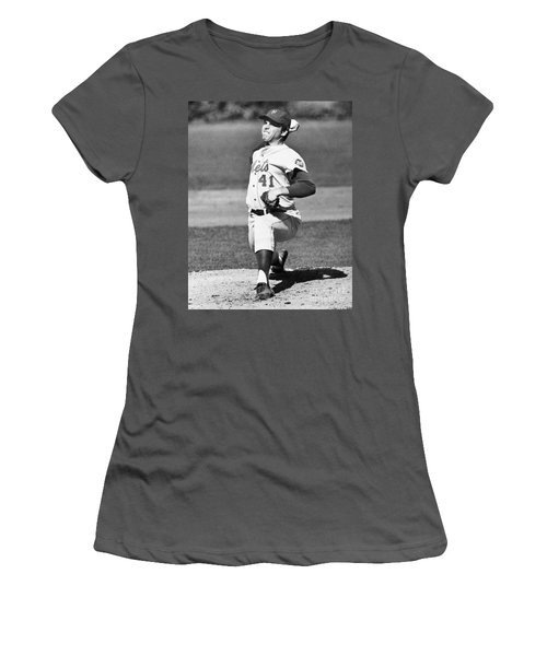 Tom Seaver (1944-) Women's T-Shirt (Athletic Fit)