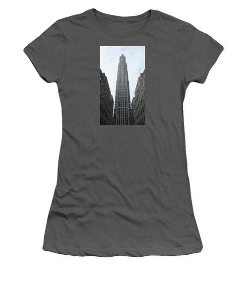 30 Rockefeller Center Women's T-Shirt (Junior Cut) by Christopher Kirby