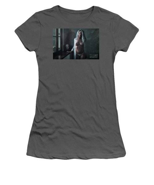 Women's T-Shirt (Junior Cut) featuring the photograph Tu M'as Promis by Traven Milovich