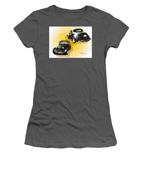 '38 Plymouth Women's T-Shirt (Junior Cut) by Sadie Reneau