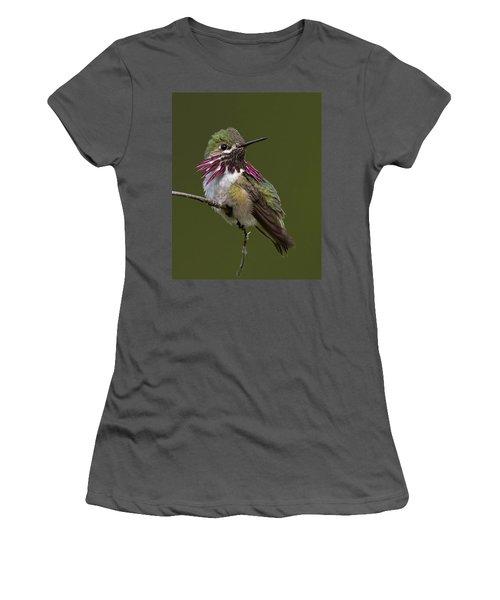 Calliope Hummingbird Women's T-Shirt (Junior Cut) by Doug Herr