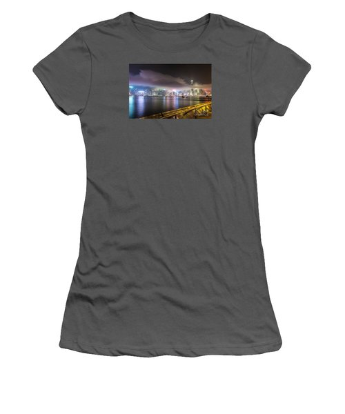 Hong Kong Stunning Skyline Women's T-Shirt (Athletic Fit)