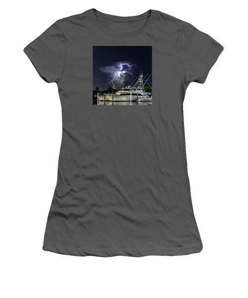 Lightning Women's T-Shirt (Athletic Fit)
