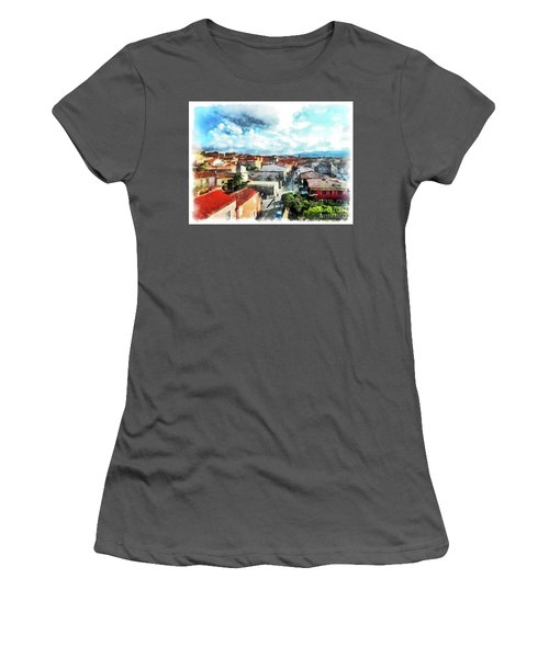 Arzachena Urban Landscape Women's T-Shirt (Athletic Fit)