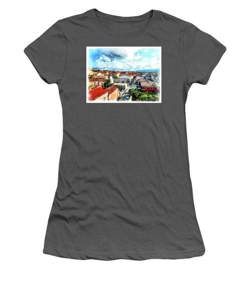 Arzachena Urban Landscape Women's T-Shirt (Athletic Fit)