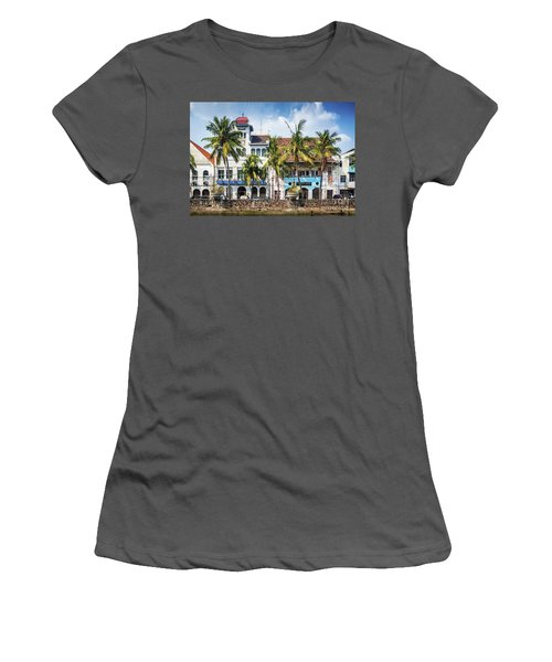 Dutch Colonial Buildings In Old Town Of Jakarta Indonesia Women's T-Shirt (Athletic Fit)