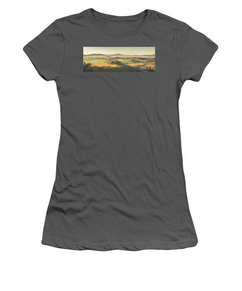 Golden Tuscany Women's T-Shirt (Junior Cut) by JR Photography