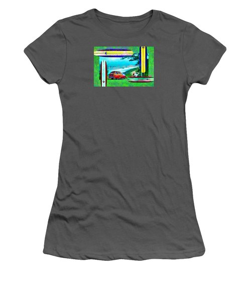 60's Surfing Women's T-Shirt (Athletic Fit)