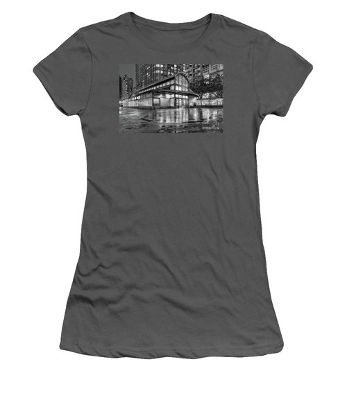 72nd Street Subway Station Bw Women's T-Shirt (Junior Cut) by Jerry Fornarotto