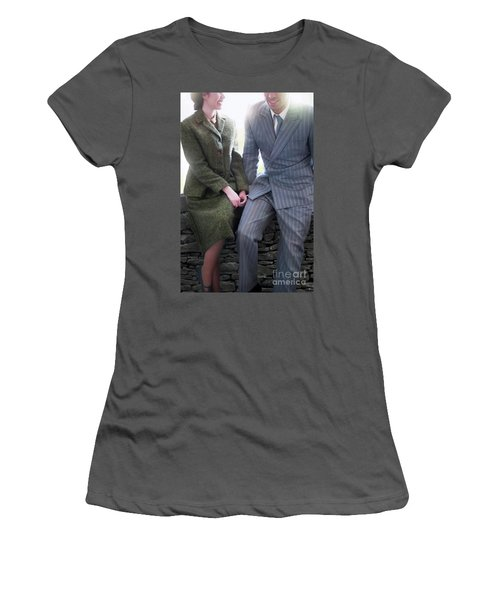 1940s Couple Women's T-Shirt (Junior Cut) by Lee Avison