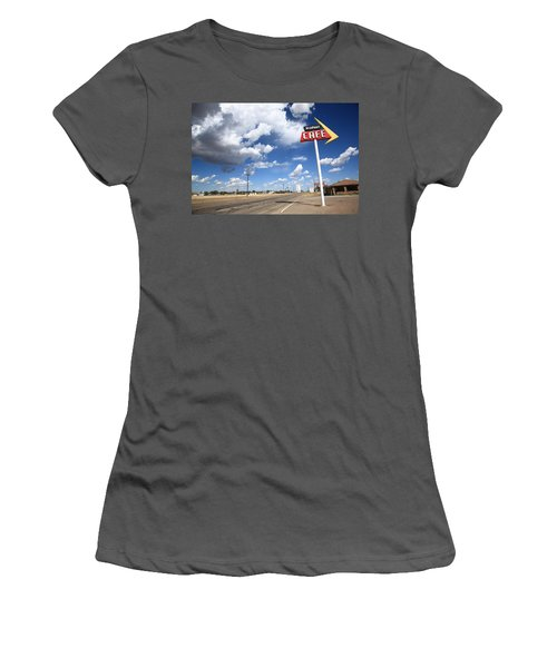 Route 66 Cafe Women's T-Shirt (Athletic Fit)