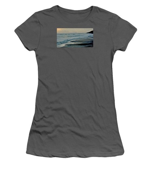 Stormy Morning At The Sea Women's T-Shirt (Athletic Fit)