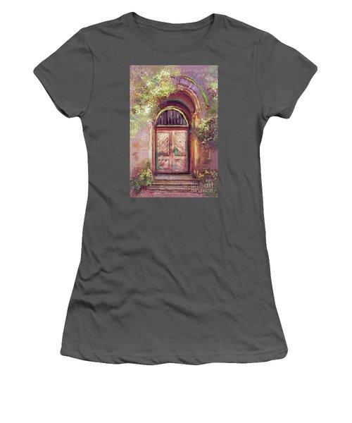 Women's T-Shirt (Junior Cut) featuring the digital art A Beautiful Mystery by Lois Bryan