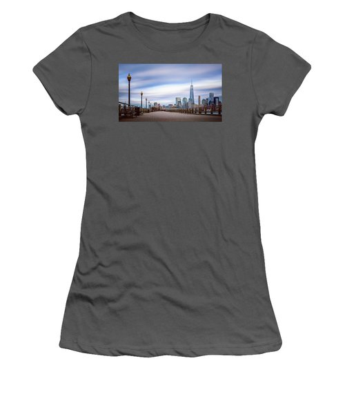 A Boardwalk In The City Women's T-Shirt (Athletic Fit)
