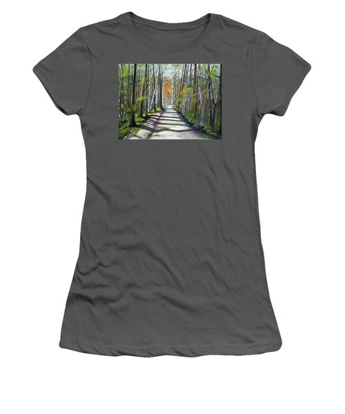 A Bright Autumn Day  Women's T-Shirt (Athletic Fit)