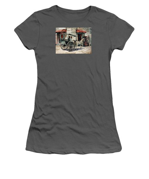 A Carriage On Crisologo Street Women's T-Shirt (Junior Cut) by Joey Agbayani