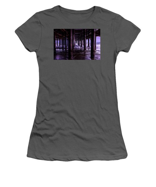A Cloudy Day Under The Pier Women's T-Shirt (Athletic Fit)