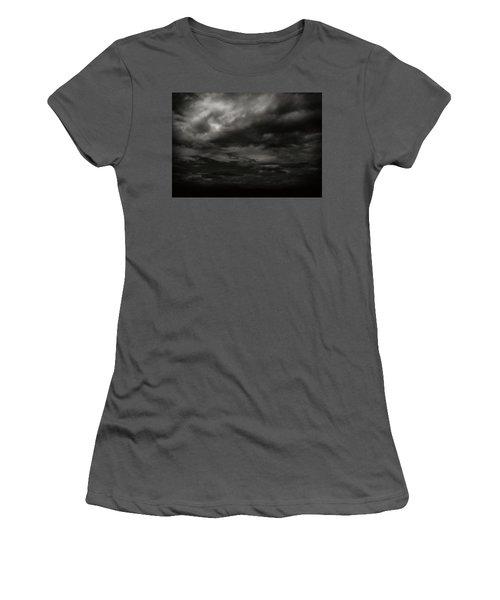 Women's T-Shirt (Junior Cut) featuring the photograph A Dark Moody Storm by John Norman Stewart