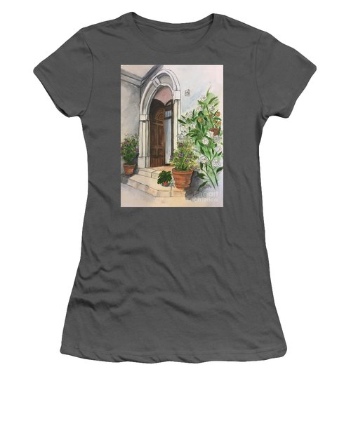 A Door In Castellucco, Italy Women's T-Shirt (Athletic Fit)