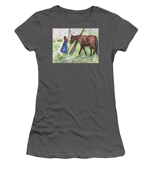 A Girl's Best Friend Women's T-Shirt (Junior Cut) by Lucia Grilletto