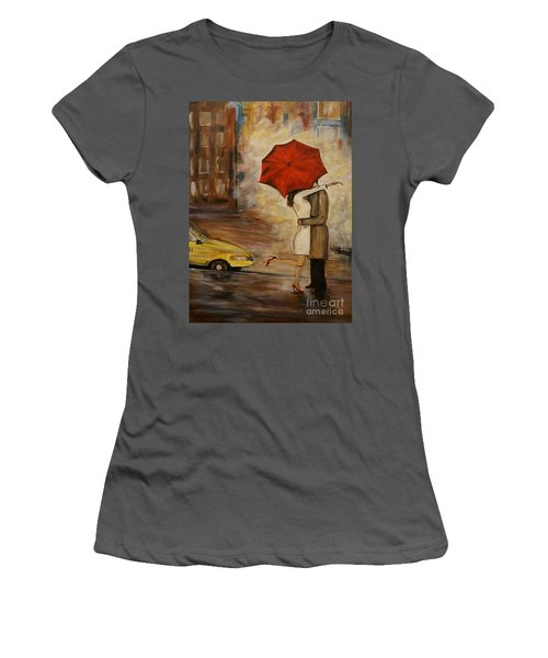 A Hello Kiss Women's T-Shirt (Athletic Fit)