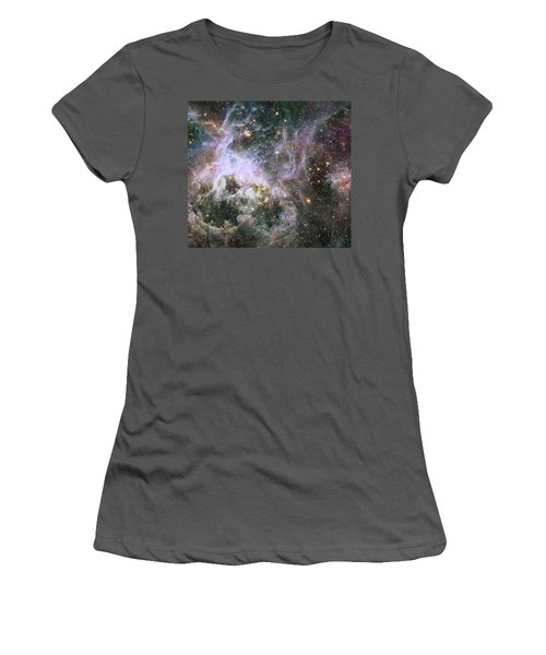 Women's T-Shirt (Junior Cut) featuring the photograph A Hubble Infrared View Of The Tarantula Nebula by Nasa