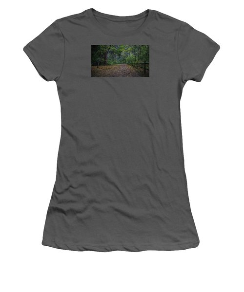 Women's T-Shirt (Junior Cut) featuring the photograph A Lincoln Park Autumn by Ken Stanback