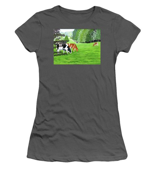 A Lush Summer Pasture Women's T-Shirt (Athletic Fit)