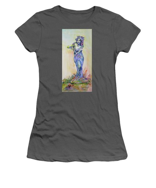 Women's T-Shirt (Athletic Fit) featuring the painting A Moment In Time by Mary Haley-Rocks