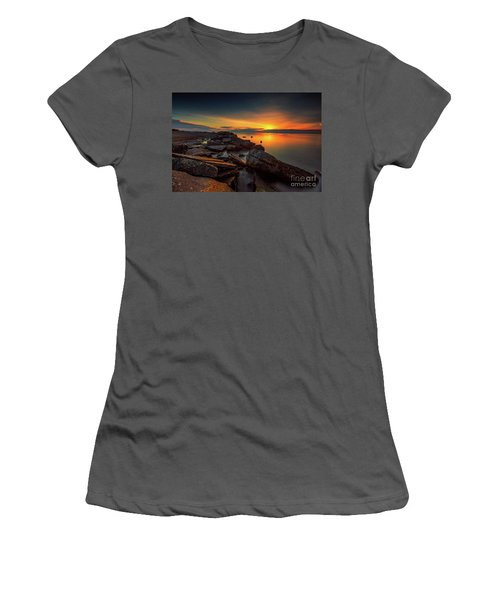 A Morning On The Rocks Women's T-Shirt (Athletic Fit)