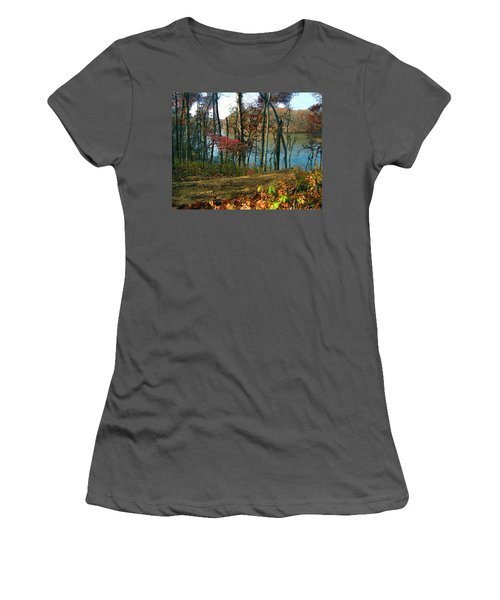 A Place To Think Women's T-Shirt (Junior Cut) by Cedric Hampton