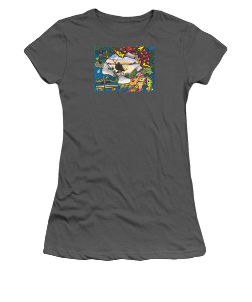 A Punch Through Women's T-Shirt (Junior Cut)