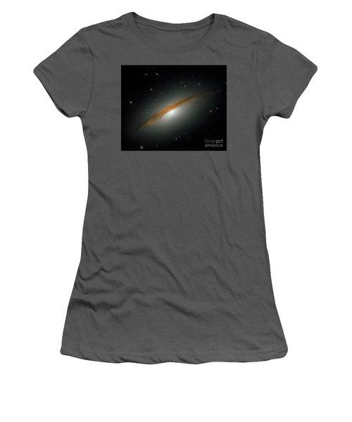 Women's T-Shirt (Junior Cut) featuring the photograph Fastest Spinning Galaxy by Nicholas Burningham