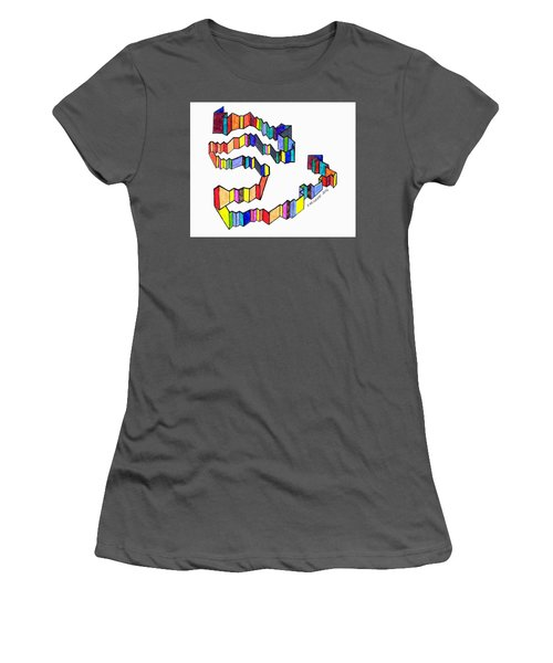 A Ribbon Of Color Women's T-Shirt (Athletic Fit)
