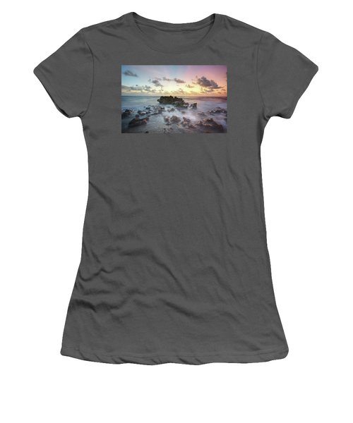 A Rocky Sunrise. Women's T-Shirt (Athletic Fit)
