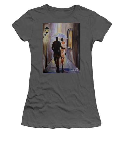 A Romantic Stroll Women's T-Shirt (Athletic Fit)