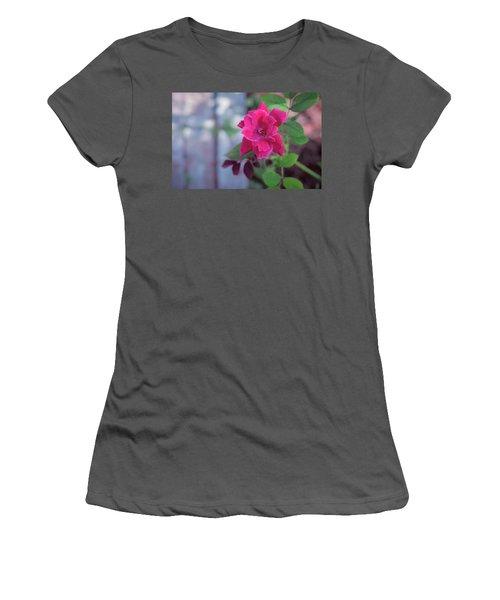 A Rose And A Hard Place Women's T-Shirt (Junior Cut) by Stefanie Silva
