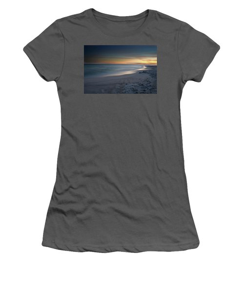 A Sandy Shoreline At Sunset Women's T-Shirt (Athletic Fit)