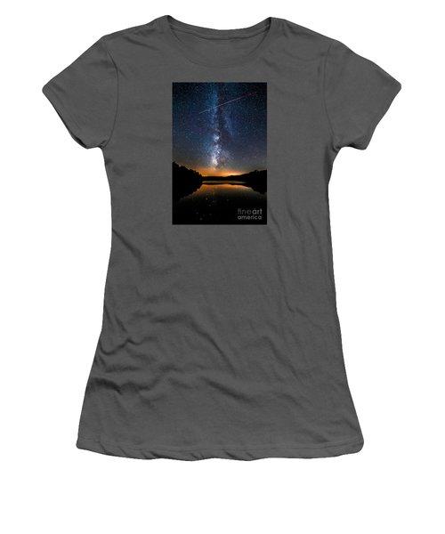 A Shooting Star Women's T-Shirt (Junior Cut) by Robert Loe