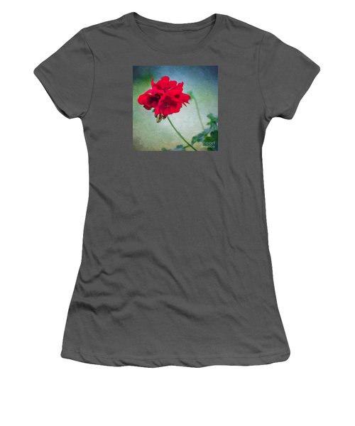 Women's T-Shirt (Junior Cut) featuring the photograph A Splash Of Red by Betty LaRue