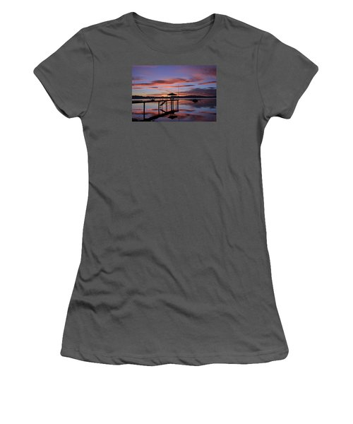 Women's T-Shirt (Junior Cut) featuring the photograph A Sunrise To Wake The Dead  by Sean Sarsfield