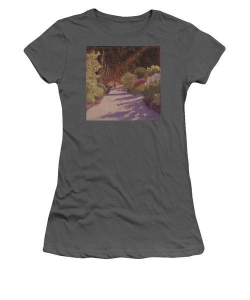 A Walk  On A  Sonoran Desert Road Women's T-Shirt (Athletic Fit)